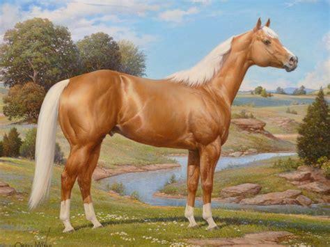 horse palomino quarter american horses paintings mixer orren stallion painting caballo association hall museum fame thoroughbred celebrated artwork artist