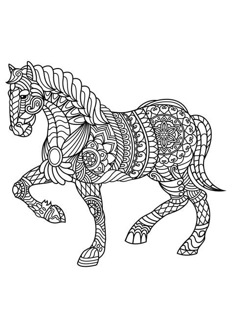 Animal coloring pagesHorse adult coloring Horse