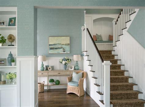 beach inspired home  blue  white kitchen home