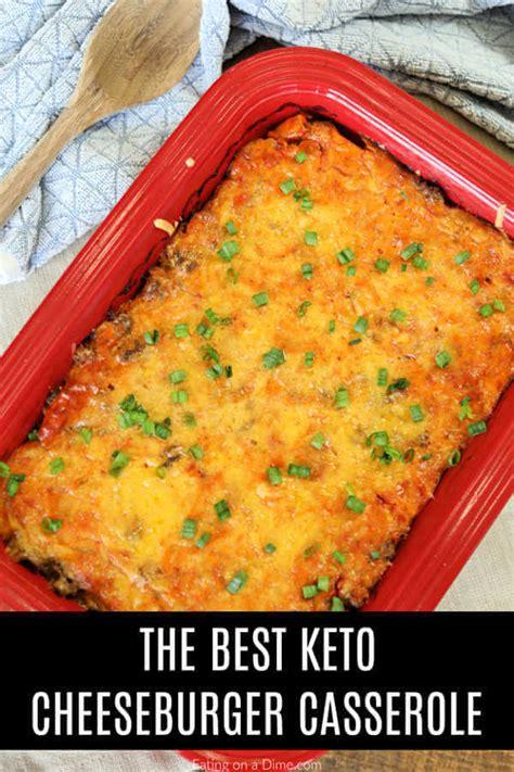 carb cheeseburger casserole recipe  easy  keto
