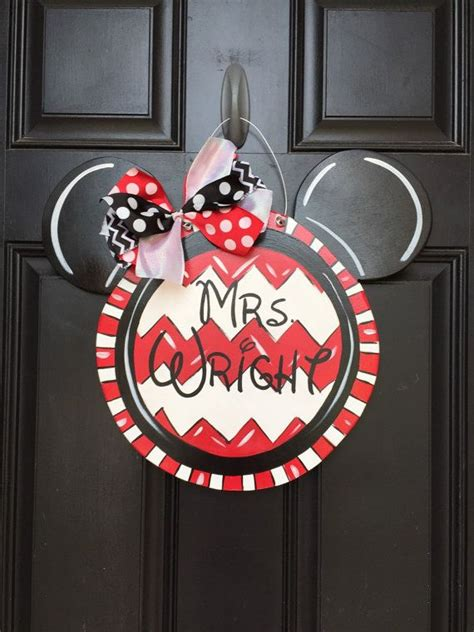 personalized wooden hand painted mickey mouse minnie mouse
