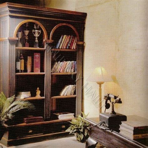 Arch Bookcase by Solid Wood Office Arch Bookcase Shelves Library Drawers Ebay