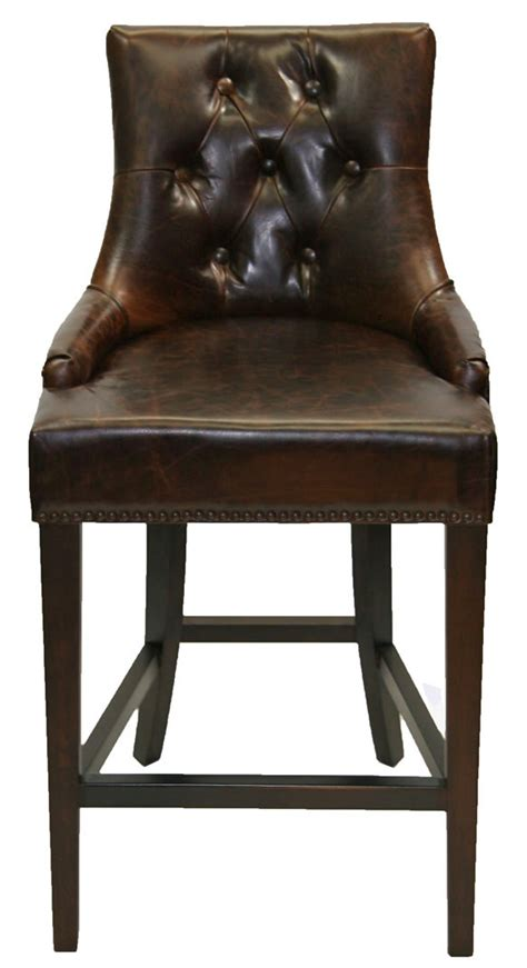 vintage leather bar stools r 1081 antique coco top grain leather bar counter stool 6838