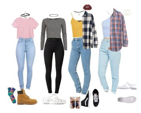 90s School Outfits by stellaluna899 on Polyvore featuring Madewell Miss Selfridge River Island ...