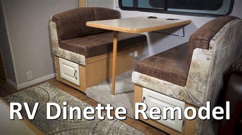 rv renovation  remodel complete dinette redo youtube