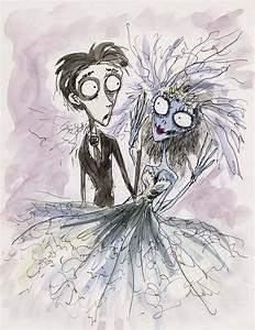 Tim Burton original concept artwork of Victor and Emily ...