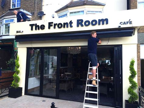 commercial awning  front room chingford essex alfresco solutions europe