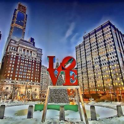 Philadelphia Love Park Pennsylvania - One of...