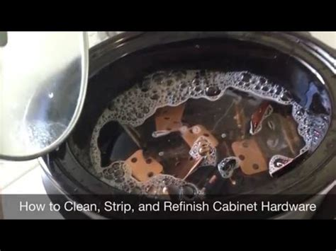 how to clean kitchen cabinet hardware how to clean and refinish cabinet hardware 8551