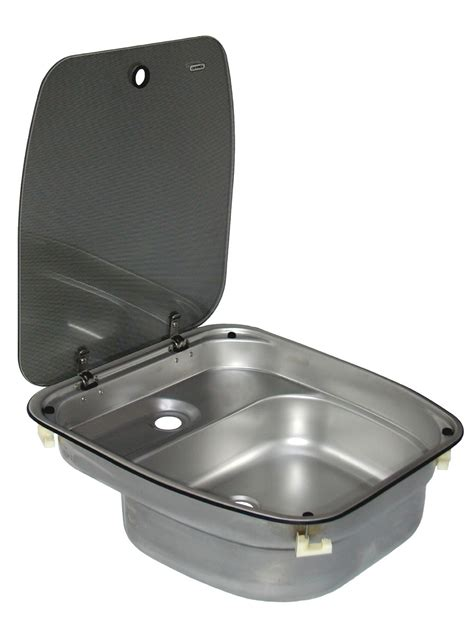 rv sinks kitchen dometic cramer sink with glass lid deluxe caravan and 2081
