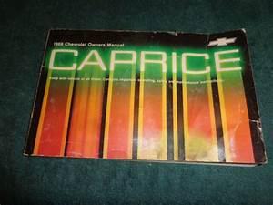 1988 Chevrolet Caprice Owners Manual    Original Guide Book