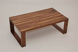 Walnut Geo Leg Coffee Table - Contemporary - Coffee Tables