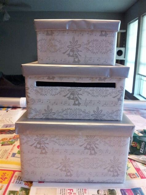 wedding gift card box diy paper mache boxes from and vintage note wrapping