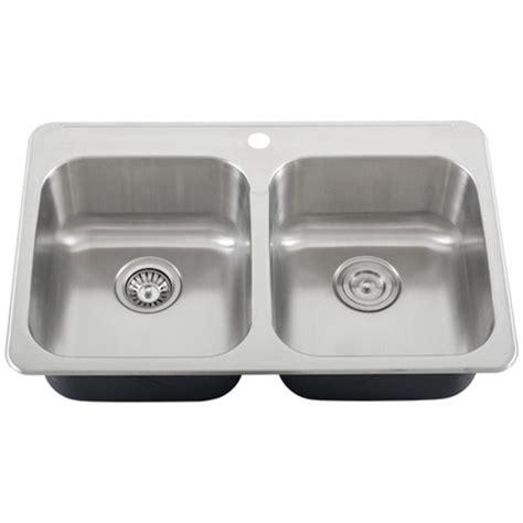 overmount stainless steel sink ticor s998 overmount 18 gauge stainless steel double bowl