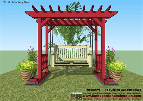 for coop sw100 arbor swing plans swing woodworking
