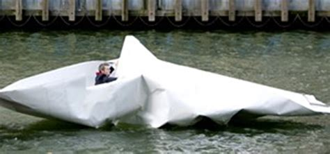 How To Make A Floating Boat For School Project by Massive Origami Boat Floats Down The Thames 171 Origami