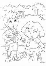 Coloring Pages Diego Go Dora Printable Kim Cartoons Popular sketch template