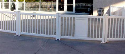 portable white plastic fence panels blockader