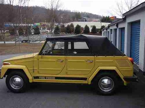volkswagen thing yellow purchase used 1973 volkswagen thing convertible yellow
