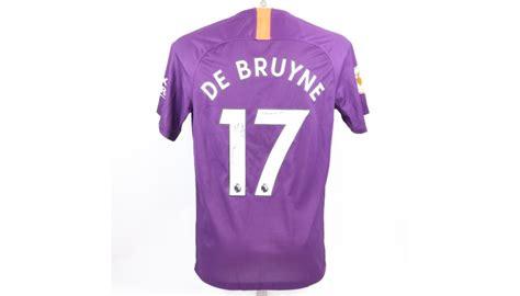 De Bruyne's Official Man City Signed Shirt, 2018/19 ...
