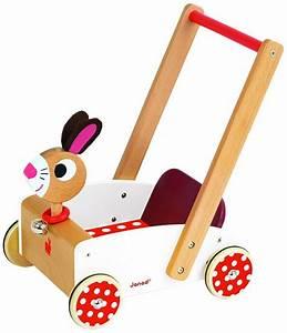 Chariot Bois Bébé : chariot de marche en bois crazy rabbit jouet pousser janod 05997 ~ Teatrodelosmanantiales.com Idées de Décoration