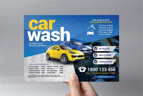 Sample car wash flyer template. Car Wash Flyer Template ~ Flyer Templates ~ Creative Market