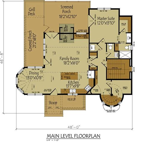 Cottage Floor Plans Small Cottage House Plan With Loft In 2019 Southern