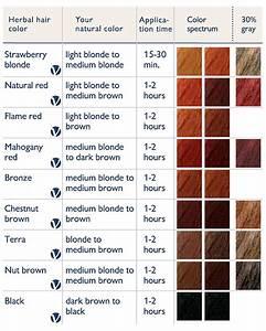 Logona sante color chart for Hair color letters