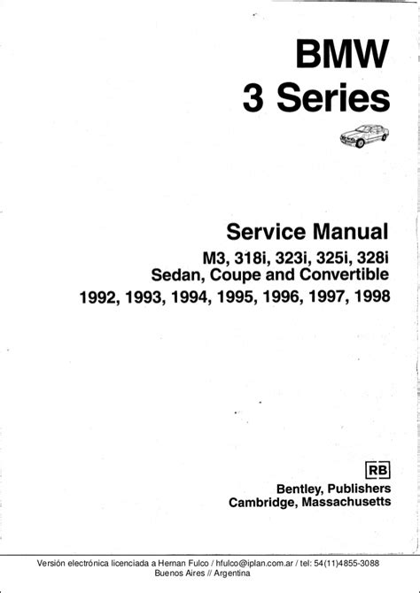 Bmw Series Workshop Manual Bentley Publishers