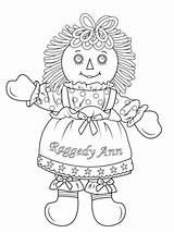 Raggedy Ann Coloring Doll Andy Dolls Printable Cabbage Patch Rag Colouring Printables Sheets Drawing Paper Template Adult sketch template
