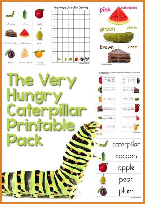 hungry caterpillar printables
