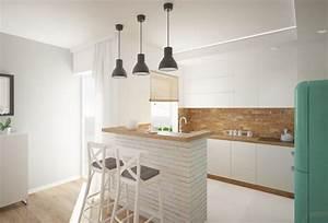 plan de travail cuisine 50 idees de materiaux et couleurs With cuisine blanche et bois clair