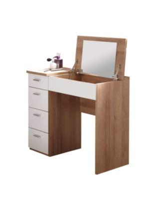 coiffeuse bureau coiffeuse bureau 4 tiroirs redlips chêne et blanc