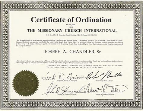 minister license certificate template ordain templates data