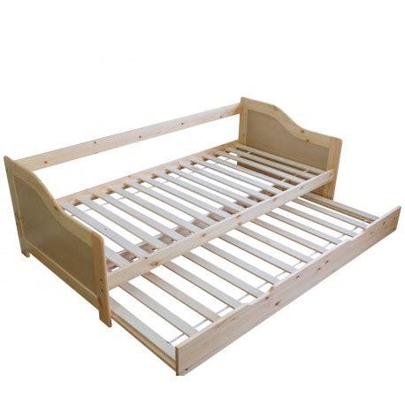 lit gigogne avec sommier 224 lattes banquette tiroir