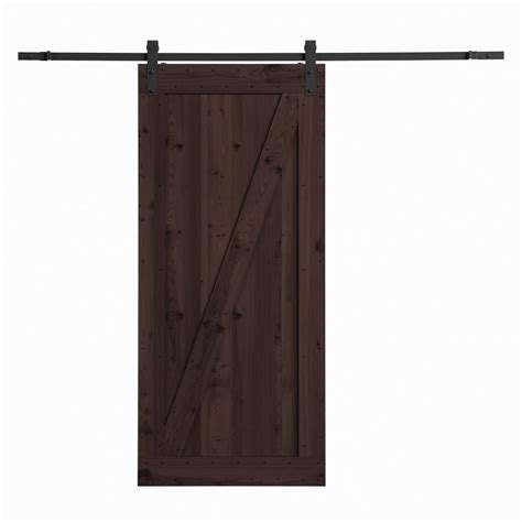 Barn Sliding Door Hardware Canada by Northbeam 36 In X 84 In Canadian Hemlock Distressed