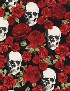 Schwarzer Stoff Kaufen : schwarzer stoff mit totenkopf rote rose blume von timeless treasures kawaii fabric shop ~ Markanthonyermac.com Haus und Dekorationen