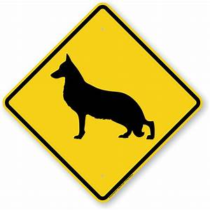 German Shepherd Dog Symbol Sign, Guard Dog Sign, Beware ...