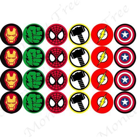 cup marvel template superhero logo edible cupcake images the monkey tree