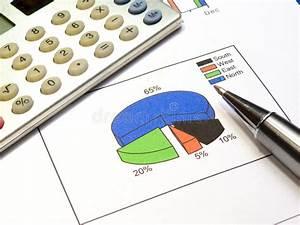 Diagram  Pen And Calculator Stock Photo