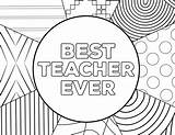 Teacher Coloring Appreciation Pages Printable Ever Card Cards Designs Sheets Thank Printables Printing Birthday Pumpkin Hair Week Colors Paper Easy sketch template