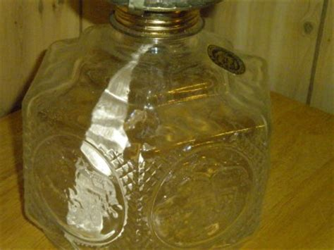 lamplight farms clear glass oil lamp with wick and