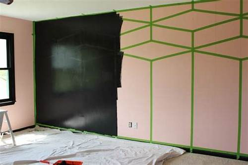 The Walls Are Painted In Black #Master #Bedroom #Paintover #Challenge #Pretty #In #Pink?