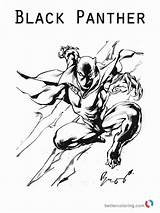 Panther Coloring Pages Marvel Movie Printable Drawing Print Superhero Getdrawings Getcolorings sketch template