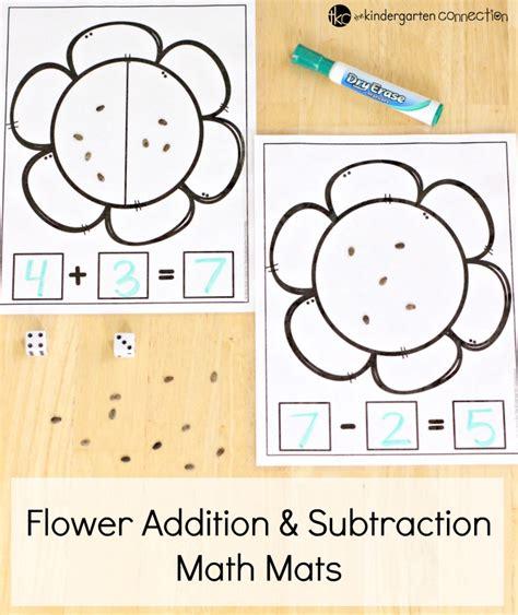 flower math mats free kindergarten printable
