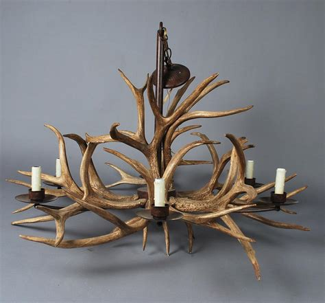 how to make an antler chandelier cernel designs