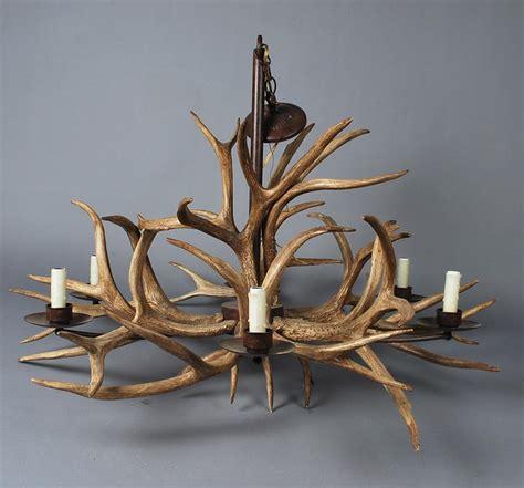 faux mule deer antler chandelier