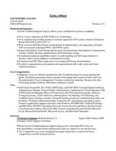 sle resume format for job application with experience developing sle resume for experienced sap basis consultant