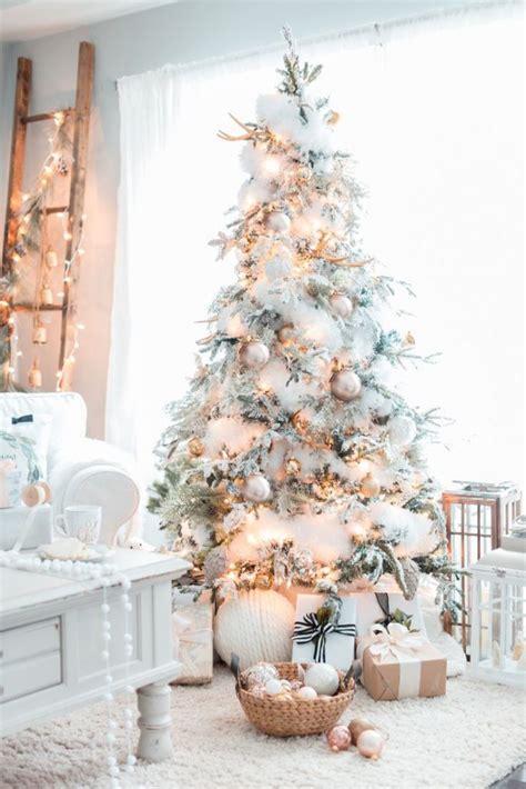 flocked christmas tree decorating ideas 30 dreamy flocked christmas tree decoration ideas christmas celebration