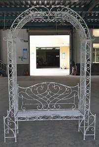 Arche De Jardin En Fer Forgé : banc arche en fer forg patin blanc antique demeure et ~ Premium-room.com Idées de Décoration